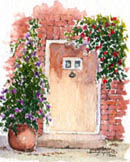 Cottage Door #2 by Wendy Griffiths - No 2 in a series