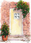 Cottage Door #3 by Wendy Griffiths - no 3 in a series