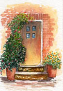 Cottage Door #4 by Wendy Griffiths - no 4 in a series
