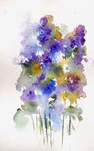 Delphiniums by Wendy Griffiths
